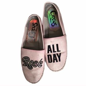 Sam Edelman rose all day pink loafers shoes 7.5
